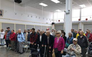 逾百僑居紐約的中華民國老兵在紐約僑教中心紀念九三軍人節,他們大多已八、九十歲高齡。 (林丹/大紀元)