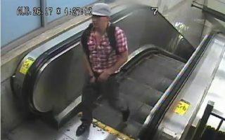 警方公佈嫌犯在作案前的錄影。 (市警提供)