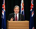 新西蘭優先黨黨魁彼得斯於9月27日在新聞發布會發言上。(Hagen Hopkins/Getty Images)