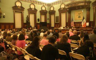 14日的立法公聽會吸引眾多民眾參加。 (張謙/大紀元)