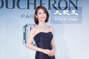 艺人林依晨9月21日在台北出席珠宝活动。 (陈柏州)