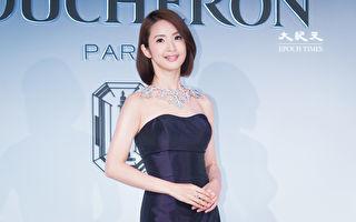 藝人林依晨9月21日在台北出席珠寶活動。 (陳柏州)