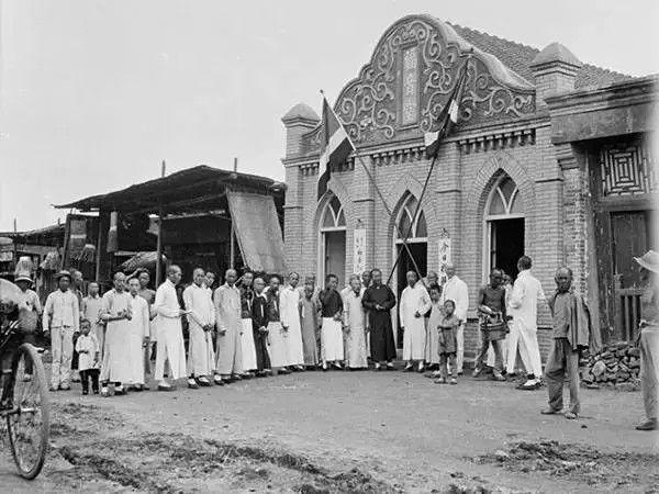 广东东莞桥头镇的一个基督教福音堂,摄于1917年-1919年之间。(甘博/公有领域)