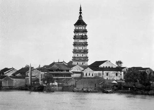安徽省安庆迎江寺内的镇风塔,摄于1917年-1919年之间。(甘博/公有领域)