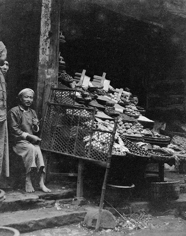 四川遂宁的水果摊,摄于1917年。(甘博/公有领域)