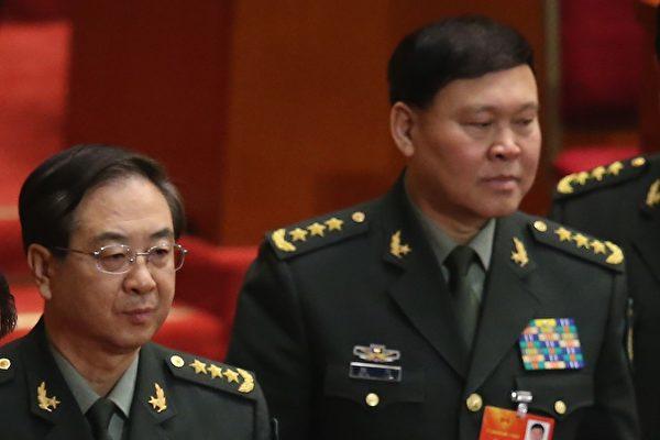 房峰輝、張陽落選軍隊十九大代表。( Feng Li/Getty Images)