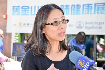 硅谷肺病專家胡萍醫生建議:少吸煙,肺健康。(張德輝/大紀元)