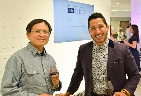 建築商Jeff Fu和建材銷售代表Francisco Pavon。(大紀元\章德維)