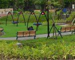 新建的鹿角溪公园。(宋顺澈/大纪元)