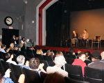 獲獎紀錄片《活摘(Human Harvest)》的放映研討會現場。主獎人喬高(左,David Kilgour)和楚銳博士(右,Torsten Trey)。(黃劍宇/大紀元)