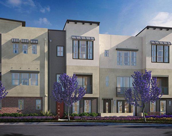 Milpitas新房,The NewHome Company开发的Ellison Park小区。(湾区房地产经纪Li Jin提供)