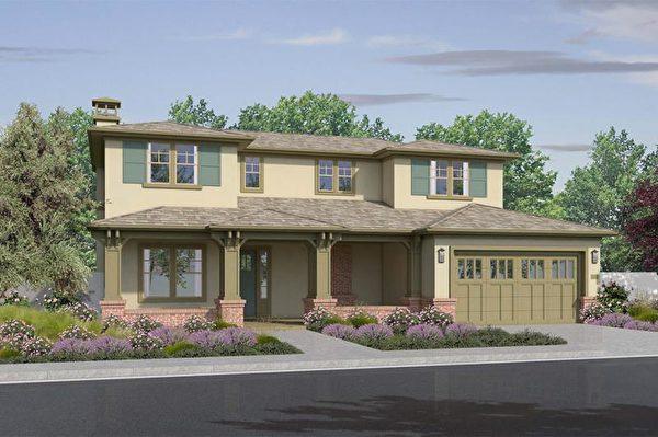 Mountain View新房,Summerhill Homes开发的Solare小区。(湾区房地产经纪Li Jin提供)
