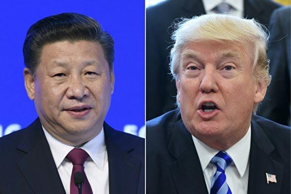 美國總統川普和中國國家主席習近平再次通話。(FABRICE COFFRINI,MANDEL NGAN/AFP/Getty Images)