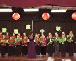 9月30日晚,聖地亞哥台灣同鄉會舉行中秋慶祝暨獎學金頒獎。圖為台灣中心長輩組合唱團在蔡滿霞指揮下合唱。(楊婕/大紀元)