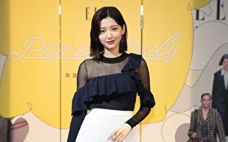 郭雪芙6日在台北出席時尚展覽。(ELLE雜誌提供)
