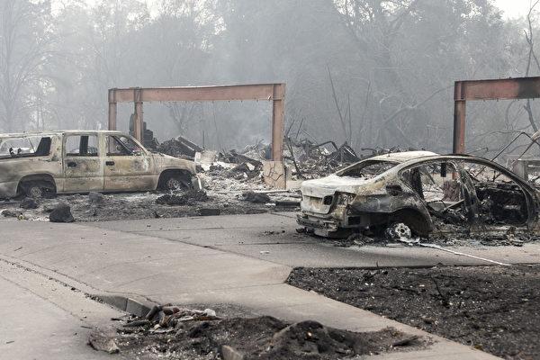 北加州大火15死 200失蹤 酒鄉化焦土