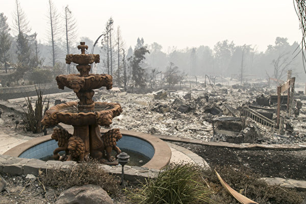 北加州大火15死 200失踪 酒乡化焦土