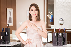 Melody(殷悦)10月13日在台北出席钻表活动。(陈柏州/大纪元)