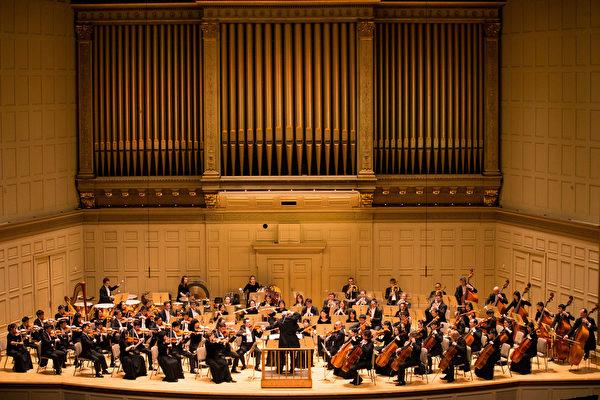 2017年10月13日,神韻交響樂團在波士頓交響樂廳演出。(戴兵/大紀元)