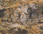 云南元江岩画-舞蹈图。(公有领域)