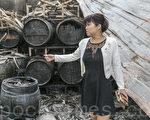 海伦纳维葡萄酒庄的酒窖被大火焚毁,2千瓶酒都报废。(曹景哲/大纪元)