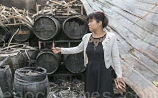 海倫納維葡萄酒莊的酒窖被大火焚毀,2千瓶酒都報廢。(曹景哲/大紀元)