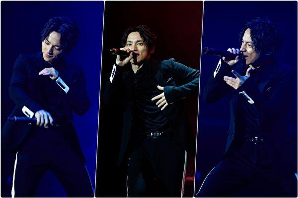 """AAA""人气团员日高光启,首度以个人名义SKY-HI来台举办个人演唱会。(avex/大纪元合成)"