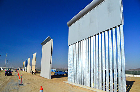 边境墙模型圣地亚哥完工