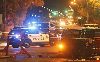 9月30日晚,發生在加拿大埃德蒙頓的貨車碾壓路人事件。(加通社)