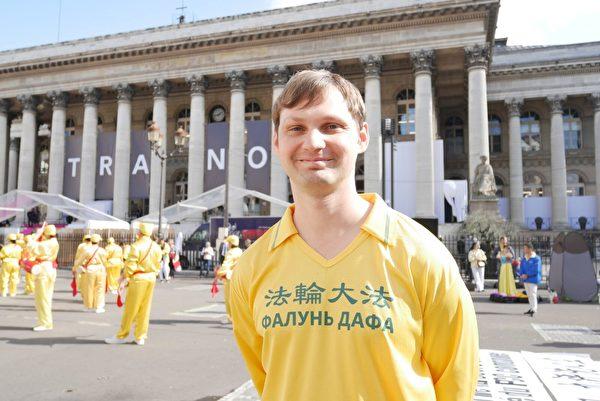 来自乌克兰的Vladimir。(张妮/大纪元)