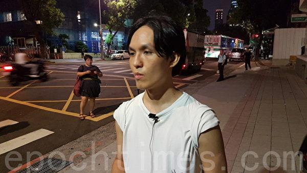吕智恒呼吁,台湾政府应与香港公民社会联手反抗中共的压迫。(吴旻洲/大纪元)