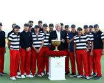 美国高尔夫球队以总比分19比11击败了国际队,连续第七次赢得总统杯冠军。 (Sam Greenwood/Getty Images)