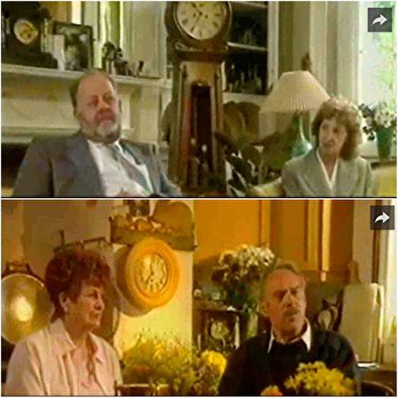 两对英国夫妇在经历奇遇后接受电视台访问,制作成知名1995年电视纪录片Strange But True。(视频截图/大纪元合成)