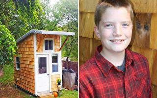 13岁的路克替自己盖了一栋房子。(FB:Luke Thill /大纪元合成)