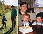 左看右看都像是父子的合影,但是画面的真实情况绝对令你讶异不已。(Conor Nickerson/大纪元合成)