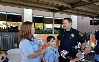 美国10岁男孩创意庆生 千个甜甜圈送警察