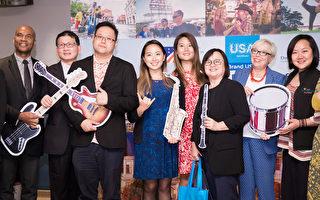ITF台北国际旅展27日开展,美国馆25日召开展前记者会。(陈柏州/大纪元)
