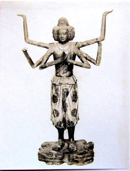 阿修罗在日本的雕像。(公有领域)