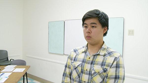 青少年招募計劃及溝通委員會高中部主席Bryan Deng。(楊陽/大紀元)