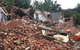 10月2日,河南郑州市高新区百炉屯村再次发生强拆打伤村民事件。(受访者提供)