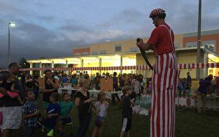 圖說:中佛州奧蘭多市的一所公立學校在舉辦校園活動。 (岑華穎/大紀元)