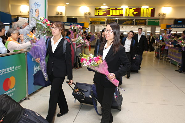 神韵交响乐团结束亚洲巡演,于10月4日中秋节当晚载誉返回纽约。(张学慧/大纪元)