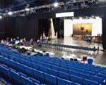 圖:休斯頓大歌劇團在喬治布朗會議中心的臨時劇院「HGO活力劇院」10月20日啟動新一季的首場歌劇演出 。(易永琦/大紀元)