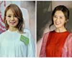 香港艺人容祖儿(左)与钟欣潼资料照。(FENDI,大纪元/大纪元合成)