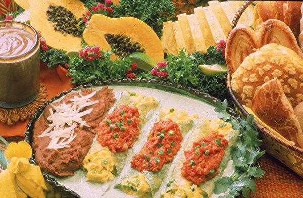 图为墨西哥风味鸡蛋卷饼。 (Hulton Archive/Getty Images)