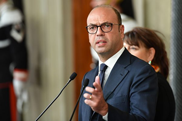 意大利外交部長安吉利諾•阿爾法諾(Angelino Alfano)表示,朝鮮駐羅馬大使Mun Jong Nam被命令離開西班牙。     (ALBERTO PIZZOLI/AFP/Getty Images)