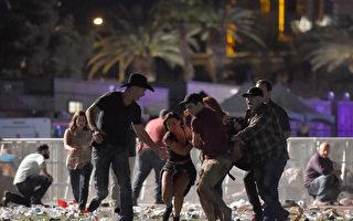 就在拉斯维加斯突然陷入枪林弹雨的时刻,一些默默无闻的人却在突如其来的混乱中,不顾自己的生命危险,保护救援他人,展现了自己英雄的一面。(David Becker/Getty Images)