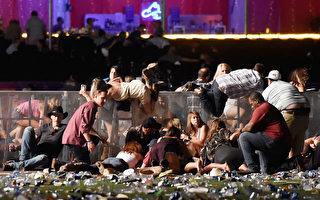 美国总统川普(特朗普)周三(10月4日)早上离开华盛顿,前往拉斯维加斯。在那里,他打算会晤美国历史上最致命枪击案当中的受害人、一线警察和抢救医生。 (David Becker/Getty Images)