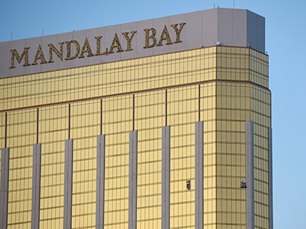 曼德勒湾酒店第32层的房间。 (David Becker/Getty Images)