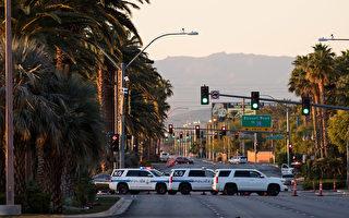 上周日晚,一名白人男性枪手在赌城拉斯维加斯发动大规模枪击血案。(Drew Angerer/Getty Images)